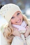Kobieta w zimie Zdjęcie Royalty Free