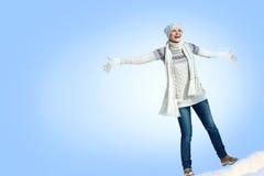 Kobieta w zimie Zdjęcie Stock