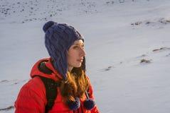 Kobieta w zimie fotografia royalty free
