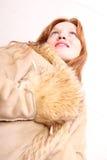 Kobieta w zimie odziewa obrazy royalty free
