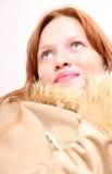 Kobieta w zimie odziewa fotografia stock