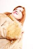 Kobieta w zimie odziewa zdjęcia stock
