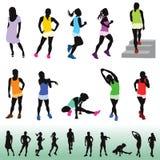 Kobieta ćwiczy dla zdrowego utrzymania Ilustracji