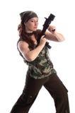 kobieta wojskowa Obrazy Royalty Free