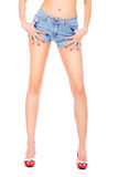 kobieta wręcza nogi seksowne Obrazy Royalty Free