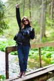 Kobieta wycieczkowicz Zdjęcie Stock