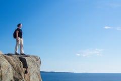Wycieczkować w Acadia park narodowy obraz stock