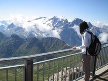 kobieta wysokiej góry Fotografia Royalty Free