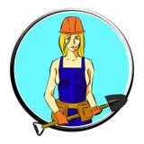 Kobieta z łopatą logo Obraz Stock