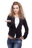 Kobieta z aktywnymi wyrażeniami Fotografia Stock