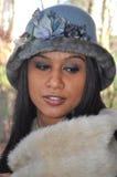 Kobieta z Błękitnym kapeluszem obraz royalty free