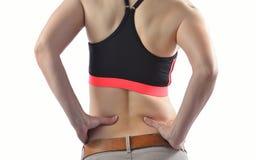 Kobieta z backache fotografia stock