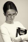 Kobieta z biznes książką Obrazy Stock