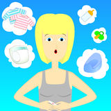 Kobieta z ciążowym testem Zdjęcia Royalty Free