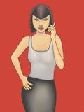 Kobieta z Cigerette Obraz Royalty Free