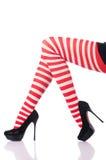 Kobieta z długimi nogami Zdjęcia Royalty Free