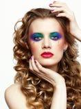 Kobieta z długimi złotymi hairs Fotografia Stock