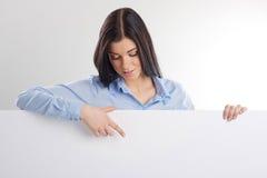 Kobieta z deską Zdjęcia Stock