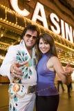 Kobieta Z Elvis Presley parodystą zdjęcie stock