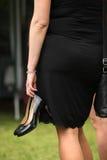 Kobieta z heeled butami Obraz Royalty Free