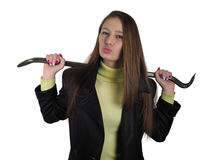 Kobieta z installer narzędziem obrazy stock