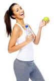 Kobieta z jabłkiem Zdjęcia Royalty Free