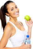 Kobieta z jabłkiem Zdjęcie Royalty Free