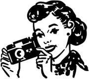 Kobieta z kamerą Zdjęcie Stock