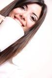 Kobieta z kawą obrazy stock