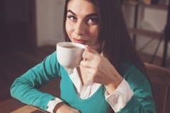 Kobieta z kawą Obraz Stock