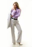 kobieta z klasą jednostek gospodarczych zdjęcia stock