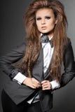 Kobieta z krawatem Obrazy Royalty Free