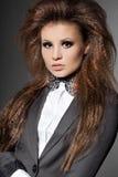Kobieta z krawatem Zdjęcie Stock