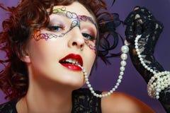 Kobieta z kreatywnie makeup obraz royalty free