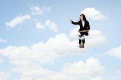 Kobieta z książką Fotografia Stock