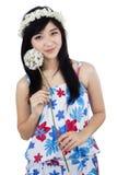 Kobieta z kwiatem Zdjęcie Stock
