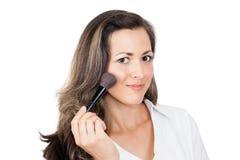 Kobieta z makeup muśnięciem Obraz Stock