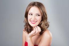 Kobieta z makijażem Zdjęcie Royalty Free