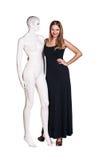 Kobieta z mannequin Zdjęcia Royalty Free