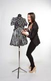 Kobieta z mannequin Fotografia Royalty Free