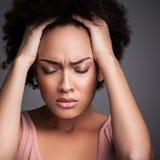 Kobieta z migreną zdjęcie stock