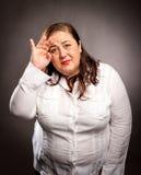Kobieta z migreną fotografia stock