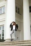 Kobieta z moda przypadkowym stylem Zdjęcie Royalty Free
