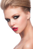 Kobieta z mody makeup Zdjęcie Stock