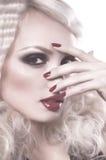 Kobieta z mody makeup Zdjęcia Royalty Free