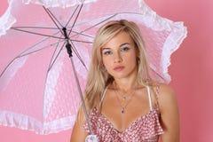 Kobieta z parasolem Fotografia Royalty Free