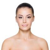 Kobieta z piękną twarzą fotografia stock