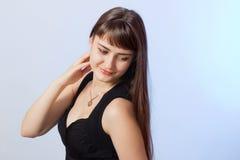 Kobieta z piękno długim brown włosy Fotografia Stock