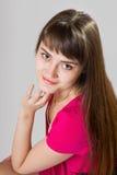 Kobieta z piękno długim brown włosy obraz stock