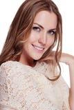 Kobieta z piękno długim brown włosy fotografia royalty free